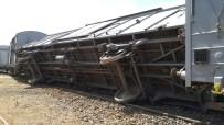 Bingöl'de Yük Treninin Vagonları Raydan Çıktı