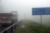 KARANLıKDERE - Bolu dağında yoğun sis etkili oluyor