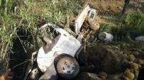 Kavun Yüklü Kamyonet Tarlaya Uçtu Açıklaması1 Yaralı