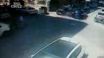 Otomobilin Çarptığı Motosikletli Aracın Camından İçeri Girdi