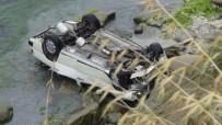 DENİZ POLİSİ - Tekirdağ'da Otomobil Uçuruma Yuvarlandı Açıklaması 2 Yaralı