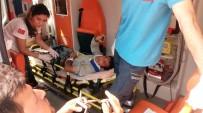 UZUNTARLA - 5 Kişinin Yaralandığı Kaza Güvenlik Kameralarına Yansıdı