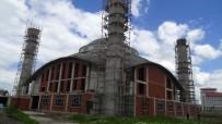 Ağrı'da Yapımı Devam Eden Ulu Cami'de İlk Cuma Namazı