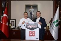 HENTBOL - Başkan Ataç'a Eskişehir Basket Forması