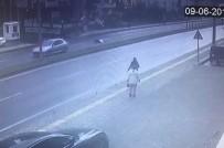 İMAM HATİP LİSESİ - Yolun Karşısına Geçmeye Çalışırken Otomobil Böyle Çarptı