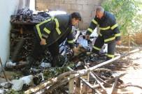 Bahçedeki Yangın Eve Sıçramadan Söndürüldü