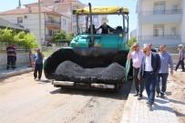 OSMAN GAZI - Başkan Çalışkan, Asfalt Çalışmalarını İnceledi
