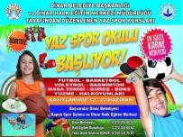 BADMINTON - Dinar'da, Ücretsiz Yaz Spor Okulu Başlıyor