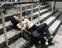 OTOPARK GÖREVLİSİ - Taksim'de yine bonzai vakası