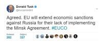 TWITTER - AB'den Rusya'ya Yaptırımların Uzatılması Kararı