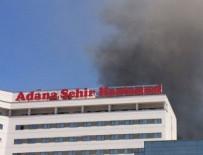 Şehir hastanesinde korkutan yangın