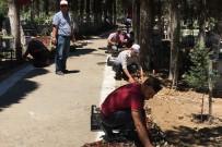 Burhaniye'de Mezarlıklar Bakıma Alındı