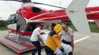 AMBULANS HELİKOPTER - Hava Ambulansı Elektrik Akımına Kapılan Nazlıcan İçin Havalandı
