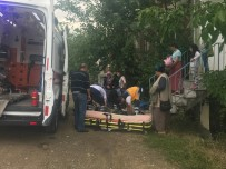 YAĞIŞLI HAVA - Merdivenlerden Düşen Kadın Yaralandı