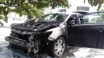 OLAY YERİ İNCELEME - Park Halindeki Otomobil Yandı
