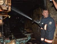 GÖRGÜ TANIĞI - Siverek'te Marangoz Atölyesinde Yangın