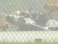 HAVA KUVVETLERİ - ABD'de F-16 iniş sırasında ters döndü