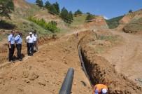 KANALİZASYON - Bayat Belediyesi'nden Afet Evlerinde Alt Yapı Çalışması
