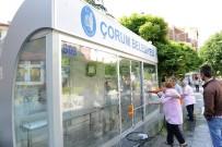 TOPLU ULAŞIM - Çorum'da Otobüs Durakları Temizlendi