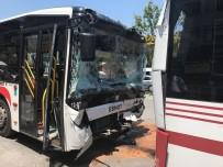 Halk Otobüsleri Çarpıştı Açıklaması 11 Yaralı