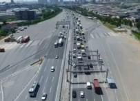 FATIH SULTAN MEHMET KÖPRÜSÜ - İstanbul'da Bayram Trafiği Havadan Görüntülendi