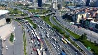 EDİRNE - Mahmutbey Gişelerindeki Bayram Trafiği Havadan Görüntülendi