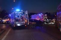 Halk Otobüsü İle Otomobil Çarpıştı Açıklaması 7 Yaralı