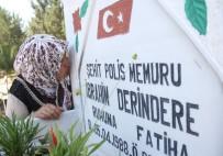 TERÖRE LANET - Şehit Oğlunun Bayramını Mezar Taşını Öpüp, Ağlayarak Kutladı