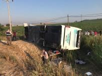 Balıkesir'de Otobüs Kazası Açıklaması 1 Ölü 40 Dan Fazla Yaralı