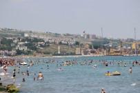 İstanbullular Akın Edince Plajda Adım Atacak Yer Kalmadı