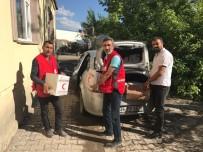 KıZıLAY - Kızılay'dan 150 Aileye Gıda Yardımı
