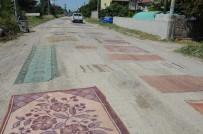SU ŞEBEKESİ - Mahalleliden Tozuyan Yola Halılı Çözüm