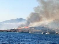 POLİS - Tarihi Değirmenler Tepesi'nde Korkutan Yangın