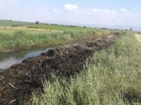 KANALİZASYON - Sulama Kanalında Temizlik Çalışma Başladı