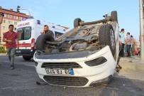 İki Otomobilin Çarpıştı Açıklaması 1 Yaralı