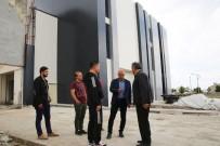 KAR YAĞıŞı - Başkan Çalışkan, Fuar Ve Kongre Merkezi İnşaatını İnceledi