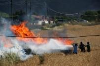 AKARYAKIT İSTASYONU - Akaryakıt İstasyonu Yakınında Korkutan Yangın