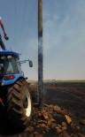 ELEKTRİK DİREĞİ - Anız Yangını 16 Köyü Elektriksiz Bıraktı