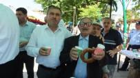 Bigadiç'de Belediye Çeşmesinden Buz Gibi Ayran Aktı