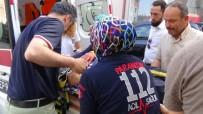 OSMAN COŞKUN - Ödünç Aldığı Motosikletle 10 Metre Sonra Kaza Yaptı