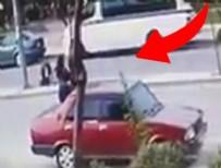 ATATÜRK EĞİTİM VE ARAŞTIRMA HASTANESİ - Suriyeli'nin kullandığı minibüs yayalara çarptı! (O anlar kamerada)
