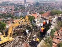 YIKIM ÇALIŞMALARI - Hıdırlıktepe'de Zor Şartlar Altında Yıkımlara Devam