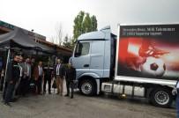 TEST SÜRÜŞÜ - Mercedes Yeni Model Kamyonlarını Ergaz&Bluepet İstasyonunda Tanıttı