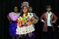 AMBALAJ ATIKLARI - Atık Malzemelerden Kıyafet Tasarladılar