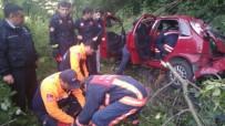 Trabzon'da Otomobil Uçuruma Yuvarlandı Açıklaması 2 Yaralı