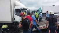 ZİNCİRLEME KAZA - Tem'de Zincirleme Kaza Açıklaması 1 Yaralı