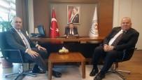 ORHAN ÖZER - Başkan Kösemusul, Bakan Özlü İle Yerli Otomobil Hakkında Görüştü