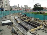 TAKSIM - Taksim'de Nostaljik Tramvayın Rayları Döşenmeye Başlandı