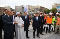 İBRAHİM KALIN - Cumhurbaşkanı Erdoğan, Ulus İtfaiye Meydanı Camii'ni İnceledi