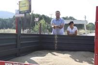 MUSTAFA TOPALOĞLU - Keşan'da Yılın İlk Arpası Satıldı